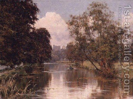 Guildford Castle from the River at St. Catherines by Edward Wilkins Waite - Reproduction Oil Painting