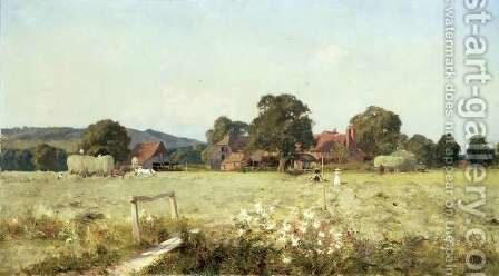 In the Long Summer Days, Brockham, Surrey by Edward Wilkins Waite - Reproduction Oil Painting