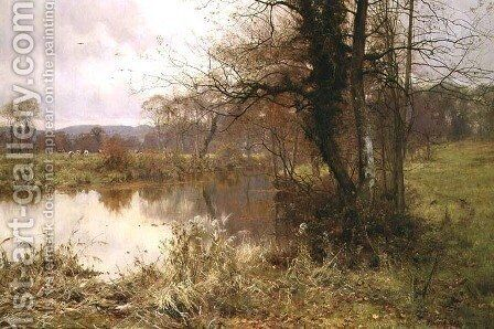 When Autumn to Winter Resigns the Pale Year, 1892 by Edward Wilkins Waite - Reproduction Oil Painting