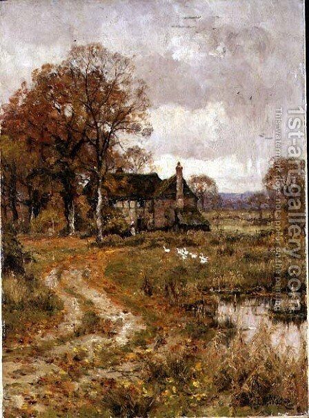 In Late Autumn, 1915 by Edward Wilkins Waite - Reproduction Oil Painting