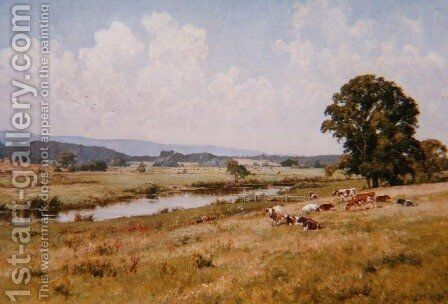 The Valley of the Rother by Edward Wilkins Waite - Reproduction Oil Painting