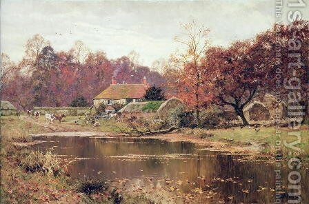 An Autumn Day at the Farm, 1919 by Edward Wilkins Waite - Reproduction Oil Painting