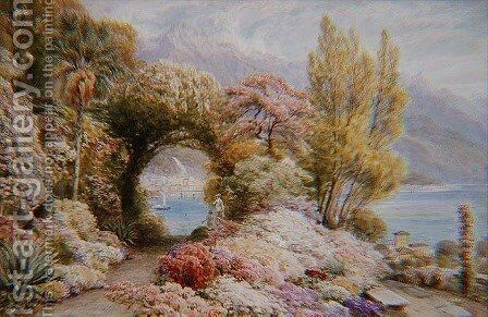 River Latte from the Heights of Serbelloni, Lake Como by Ebenezer Wake-Cook - Reproduction Oil Painting
