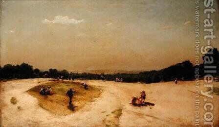 Cricket on Hampstead Heath, 1898 by Charles Walker - Reproduction Oil Painting