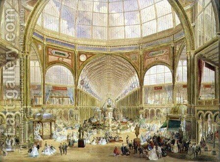 Interior of the International Exhibition of 1862 by Edmund Walker - Reproduction Oil Painting
