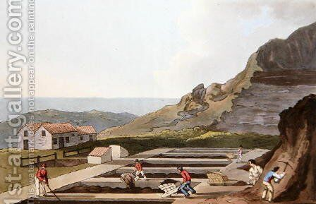 Alum Works, from Costume of Yorkshire engraved by Robert Havell (1769-1832) 1814 by (after) Walker, George - Reproduction Oil Painting