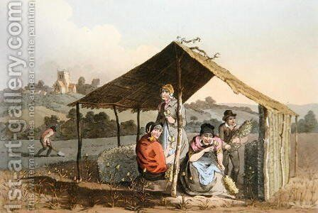 The Teazle Field, from Costume of Yorkshire engraved by Robert Havell (1769-1832) 1814 by (after) Walker, George - Reproduction Oil Painting