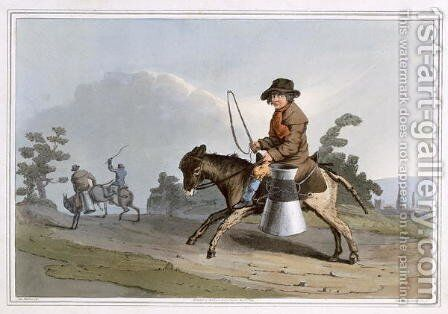 The Milk Boy, engraved by Robert Havell the Elder, published 1814 by Robinson and Son, Leeds by (after) Walker, George - Reproduction Oil Painting