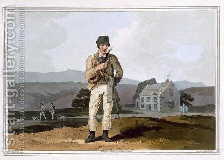 The Moor Guide, engraved by Robert Havell the ELder, published 1814 by Robinson and Son, Leeds by (after) Walker, George - Reproduction Oil Painting