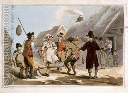 The Fool Plough, engraved by Robert Havell the Elder, published 1814 by Robinson and Son, Leeds by (after) Walker, George - Reproduction Oil Painting