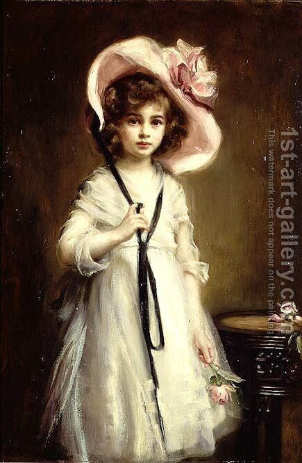 Portrait of Nancy Tooth, 1905 by Mary Lemon Waller - Reproduction Oil Painting