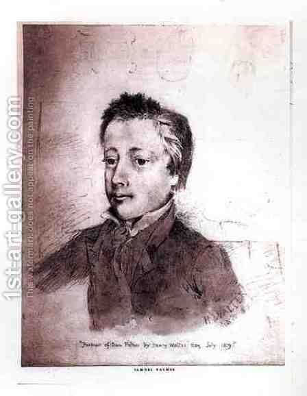 Portrait of Samuel Palmer (1805-81) as a Boy, 1819 by Henry Walter - Reproduction Oil Painting