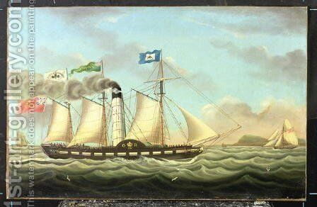 The Steam Packet Saint Patrick On The Liverpool To Dublin Run, 1827 by Miles Walters - Reproduction Oil Painting