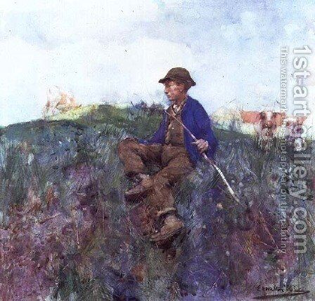 The Herdboy, 1886 by Edward Arthur Walton - Reproduction Oil Painting