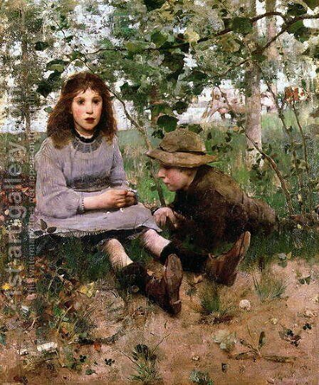 The Daydream, 1885 by Edward Arthur Walton - Reproduction Oil Painting