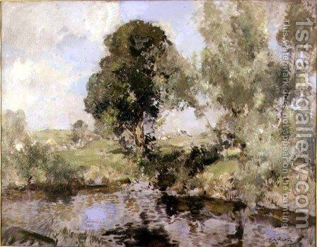 The Willows by Edward Arthur Walton - Reproduction Oil Painting