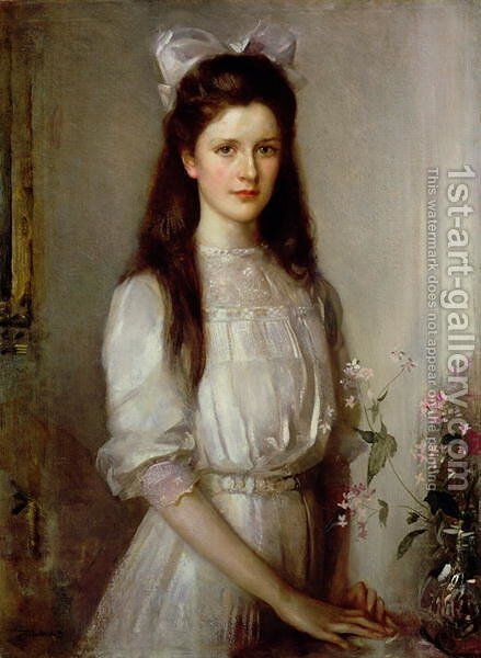 Miss Christian Elspeth Mallock by Edward Arthur Walton - Reproduction Oil Painting
