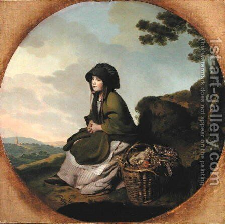Market Girl (The Silver Age) c.1776-77 by Henry Walton - Reproduction Oil Painting