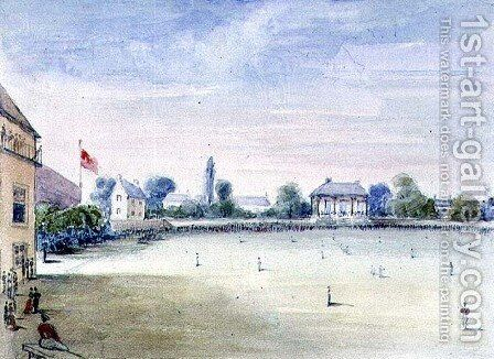 Lord's Cricket Ground, 1851 by Nicholas (Felix) Wanostrocht - Reproduction Oil Painting