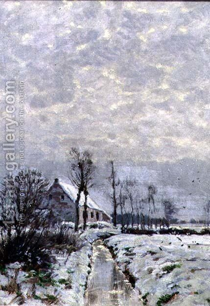 Winter Stream by Arthur Wansleben - Reproduction Oil Painting
