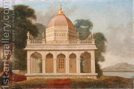Mausoleum at Outatori near Trichinopoly, c.1788 by Colonel Francis Swain Ward - Reproduction Oil Painting