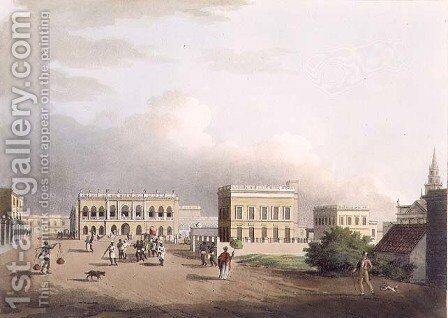 The Old Court House, Calcutta, plate 17 from Twenty Four Views in Hindostan, engraved by Harradon, pub. by Edward Orme (1774-c.1820) 1805 by Colonel Francis Swain Ward - Reproduction Oil Painting