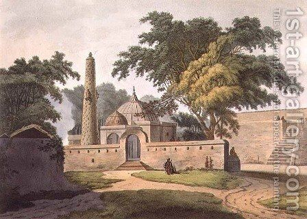 The Burial Place of a Peer Zada, Anopther, plate 6 from Twenty Four Views in Hindostan, pub. by Edward Orme (1774-c.1820) 1803 by Colonel Francis Swain Ward - Reproduction Oil Painting