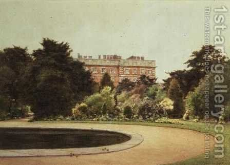 Garden, Hampton Court by Cyril Ward - Reproduction Oil Painting