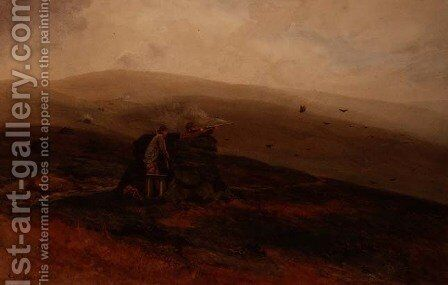 Grouse Shooting, 1891 by Cyril Ward - Reproduction Oil Painting