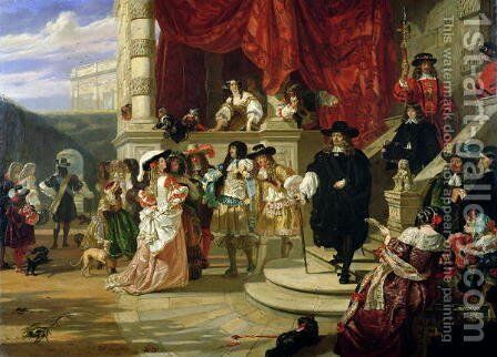The Fall of Edward Hyde (1609-74), 1st Earl of Clarendon, 1861 by Edward Matthew Ward - Reproduction Oil Painting