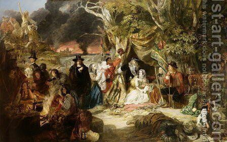 Highgate Fields During the Great Fire of London in 1666, 1848 by Edward Matthew Ward - Reproduction Oil Painting