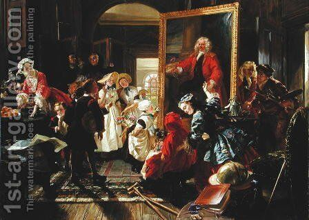 Hogarth's Studio in 1739 by Edward Matthew Ward - Reproduction Oil Painting