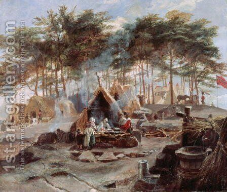 Chobham Camp, 1853 by Edward Matthew Ward - Reproduction Oil Painting