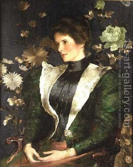 Portrait of Lady Sutherland by Edwin Arthur Ward - Reproduction Oil Painting