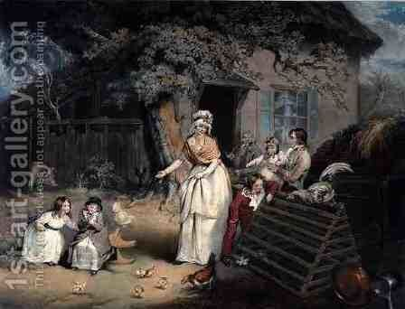 The Citizens Retreat, engraved and pub. by William Ward (1766-1826), 1796 by (after) Ward, James - Reproduction Oil Painting