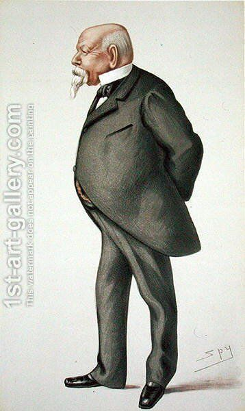 Samuel Ward (1814-84), illustration from Men of the Day, no. 214, Punch magazine, 1880 by (after) Ward, Leslie Matthew - Reproduction Oil Painting