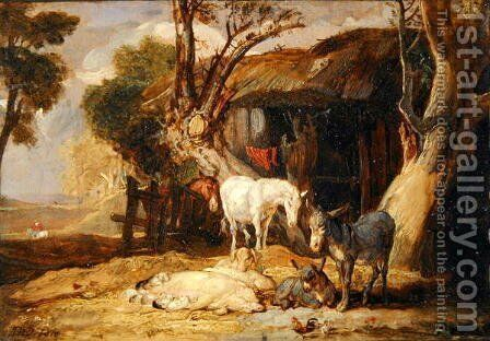 The Straw Yard, 1810 by James Ward - Reproduction Oil Painting