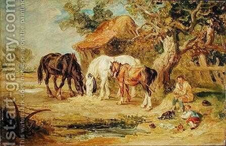 The Midday Meal, c.1830-40 by James Ward - Reproduction Oil Painting