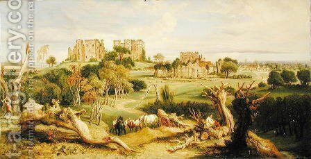 Kenilworth Castle, Warwickshire, 1840 by James Ward - Reproduction Oil Painting