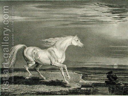 Marengo, from Celebrated Horses, a set of fourteen racing prints published by the artist, 1823-24 by James Ward - Reproduction Oil Painting