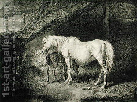 Primrose and Foal, from Celebrated Horses, a set of fourteen racing prints published by the artist, 1823-24 by James Ward - Reproduction Oil Painting
