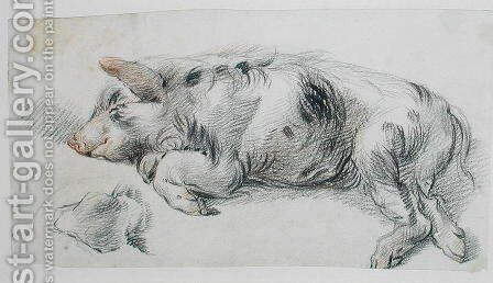 Sleeping Pig by James Ward - Reproduction Oil Painting