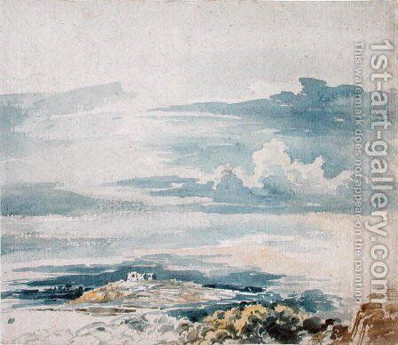 Landscape with a Castle on a Hill by James Ward - Reproduction Oil Painting