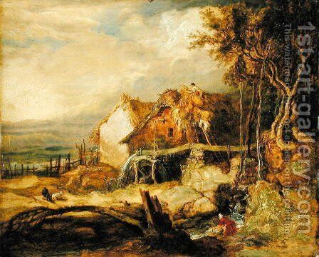 An Overshot Mill, c.1802-07 by James Ward - Reproduction Oil Painting