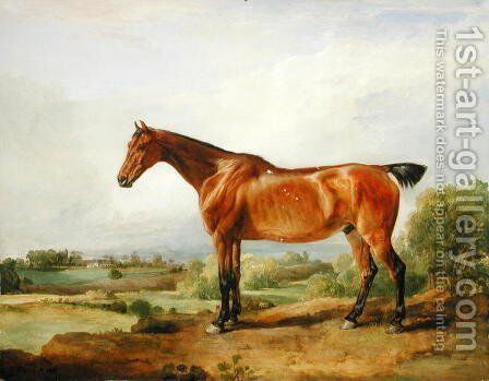 A Hunter in a Landscape, 1810 by James Ward - Reproduction Oil Painting