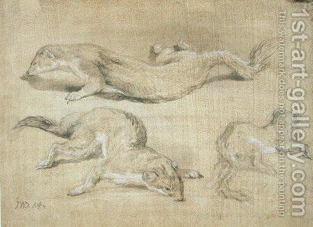 Ferrets by James Ward - Reproduction Oil Painting
