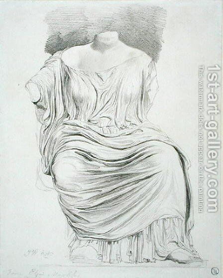 Study of Sculpture: from the Elgin Marbles by James Ward - Reproduction Oil Painting