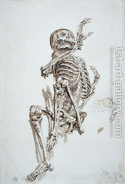 A Human Skeleton by James Ward - Reproduction Oil Painting
