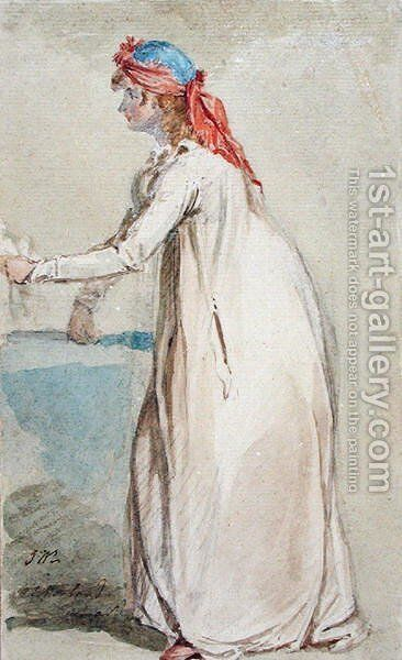 Mrs Morlands Portrait, c.1800-04 by James Ward - Reproduction Oil Painting