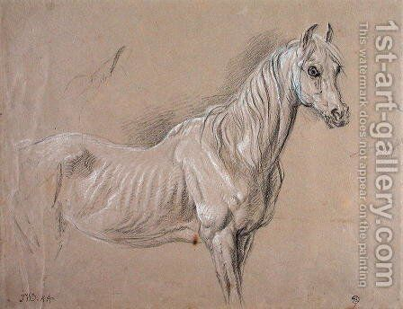A Mare: possibly a study for LAmour de Cheval, 1827 by James Ward - Reproduction Oil Painting